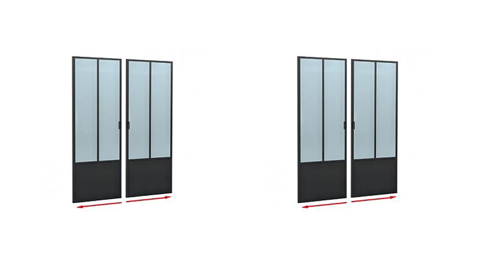 Porte vitr e atelier cloison vitr e laruche paris for Porte atelier